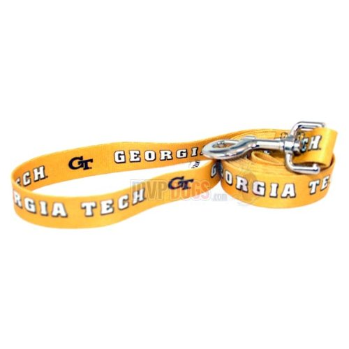"Georgia Tech Yellow Jackets NCAA Dog Leash S: 6 foot, 5/8"" wide"