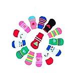 LifeWheel Traction Control Cotton Socks Indoor Dog Nonskid Knit Socks 5 Sets Random Color