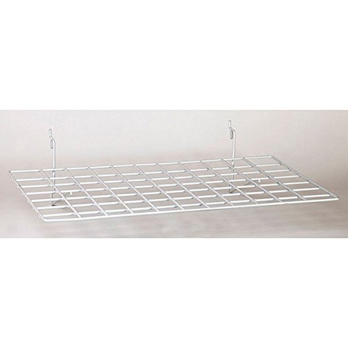 Set of 8 New Retails White Flat Wire Grid Shelves 23-1/2''w x 14''d