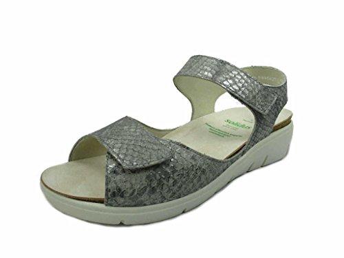 Solidus Women's 7601020435 Fashion Sandals Grey