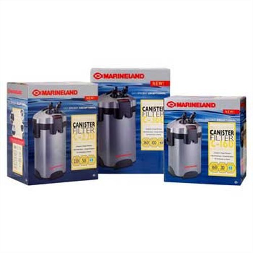 Marineland PC-ML160 Multi-stage Canister Filter, Up to 30-Gallon, 160GPH