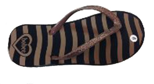 Brown Womens Zebra print Flop With Glitter Flip wth Straps t4qr48
