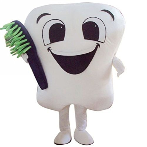 Tooth Mascot Costume Fancy Dress Outfit for Dentist Advertising Adult Size (2)