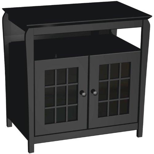 Black A/v Credenza (Sylvan Ridge YAB32SR32B 32-Inch Hi-Boy A/V Credenza TV Stand (Black))