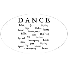 CafePress - Dance Words Sticker (Oval) - Oval Bumper Sticker, Euro Oval Car Decal