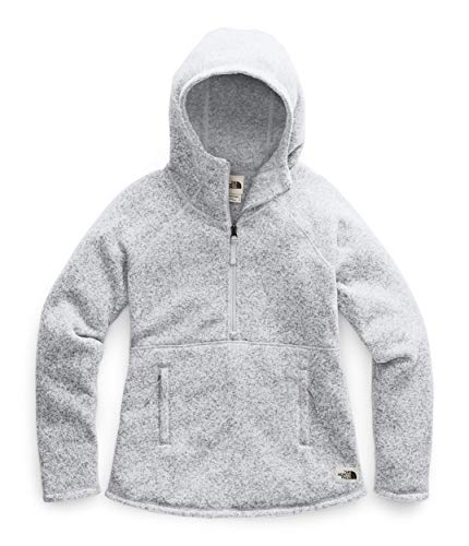 The North Face Women's Crescent Hooded Pullover, TNF Light Grey Heather, XXL