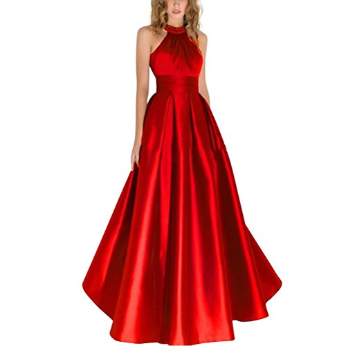 A für Halter Elegantes Abendkleider Burgund Satin Linie 36 Ballkleider Bodenlang Damen Kreuzmuster Burgund Langes ASZxqwUn