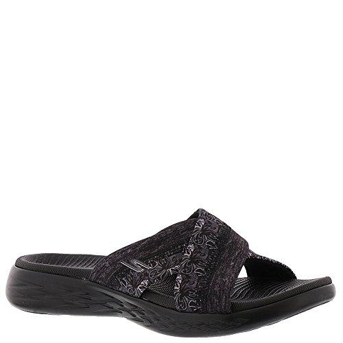 Skechers Print Sandals - Skechers On The Go 600 Monarch Womens Slides Sandals Black 7 W