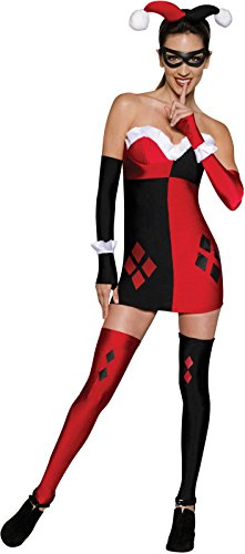 Secret Wishes Women's Dc Comics Super Villains Harley Quinn, Multicolor, Large - Sexy Harley Quinn Costumes
