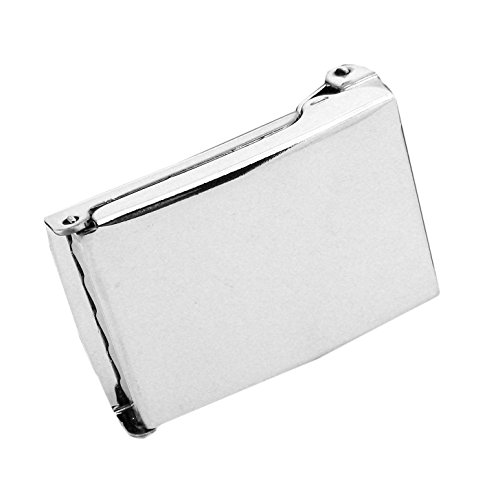Classic Silver Flip Top Military Buckle 1.25 Width