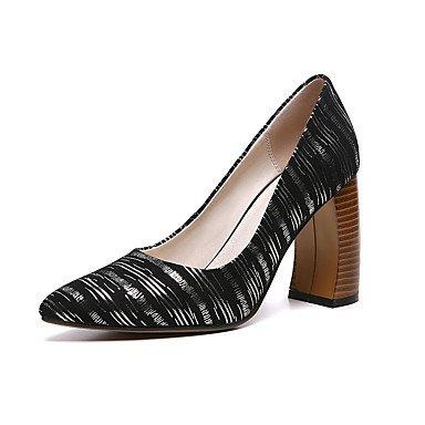 Talones de las mujeres Zapatos Primavera Verano Otoño Invierno Club de cachemira para oficina y del partido Carrera y vestido de noche de tacón grueso Plata Oro Gold