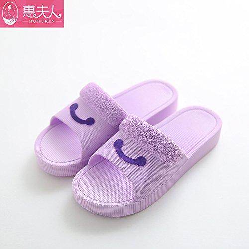 los son Zapatillas interiores frescos Morado2 sandalias en verano baños El mujer simples suave gruesas en verano la casa Preciosa DogHaccd baja anti Zapatillas planta deslizamiento 5SqTwUTpZn