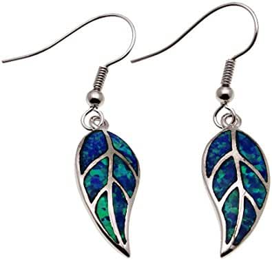 Women Jewelry Dangle Earrings Silver Created Blue Opal CHOOSE YOU STYLE