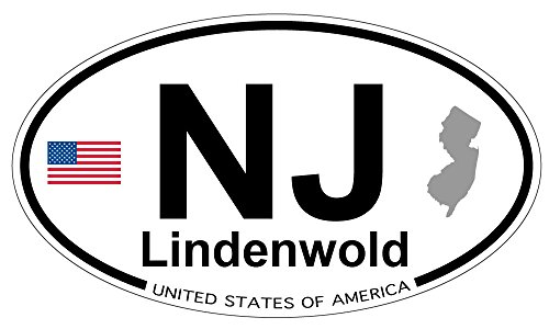 (Lindenwold, New Jersey Oval Magnet)