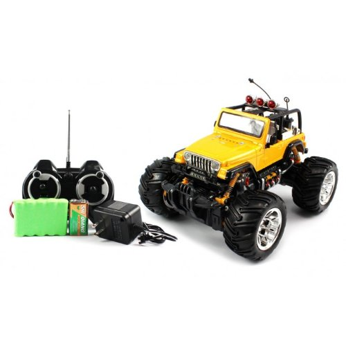 Big Size QUALITY Electric Full Function Electric Full Function 1:16 Jeep Wrangler Convertible Monster RTR RC Truck (Colors MAy Vary) QUALITY Remote Control RC Trucks w/ Working (Rtr 1 Remote Control Antenna)