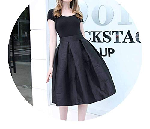 Long Skirts High Waist Pleated Womans Floor Length Skirt Plus Size Elastic Elegant - Covington Womens Skirt