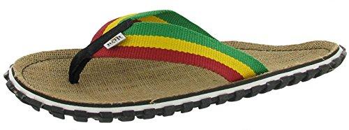 Officiële Bob Marley Fresco Heren Sand Slippers Sandalen Rasta Print Maat 14