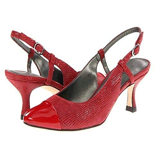 VANELi Women's Edred Red Patent Lizard Leather Slingback - M - 5