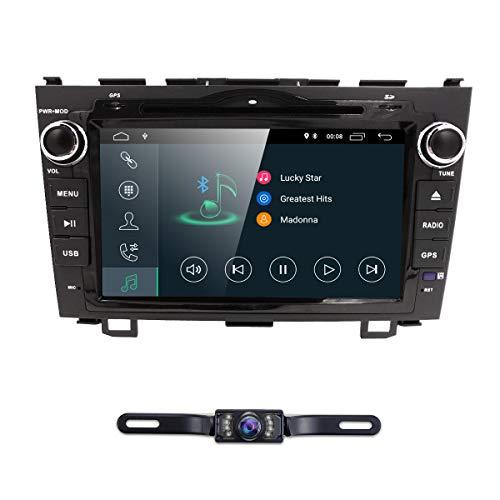hizpo Android 8.1 Car Radio for Honda CRV CR-V 2007 2008 2009 2010 2011 8 inch DVD Player WiFi GPS Navigation Stereo Bluetooth + Camera - Crv Radio