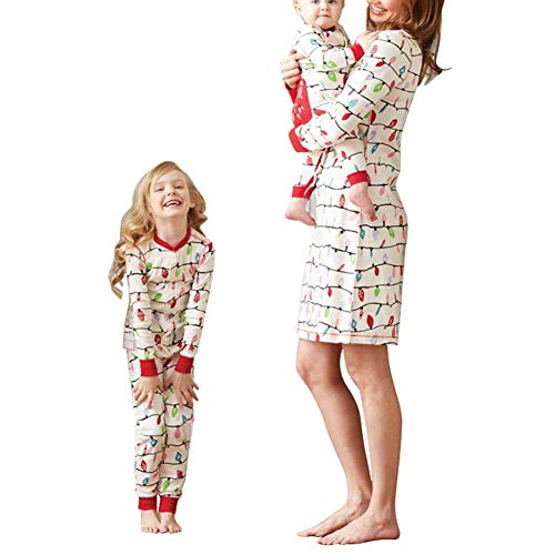 chinatera Christmas Family Matching Sleepwear Infant Baby Kids Women Pajamas PJs Fall Winter