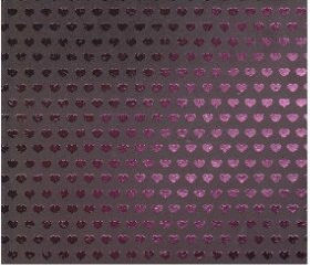 12x12 Cardstock - Rock Star Foil Pink Hearts - 2 Sheets