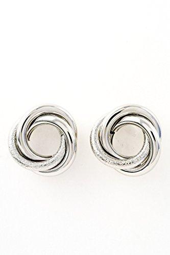 Trendy Fashion Jewelry Circular Braid Earring By Fashion Destination | (Silver)