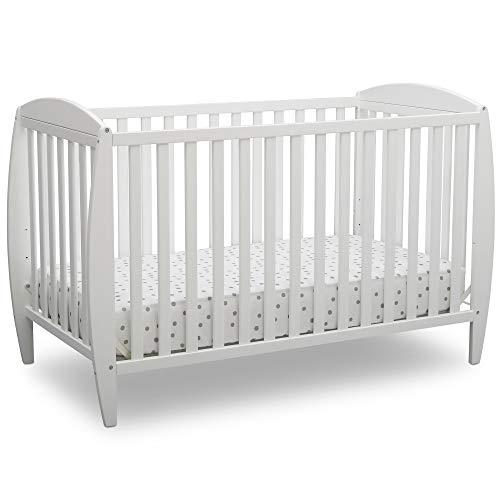 (Delta Children Archer 4-in-1 Convertible Baby Crib, Bianca White)