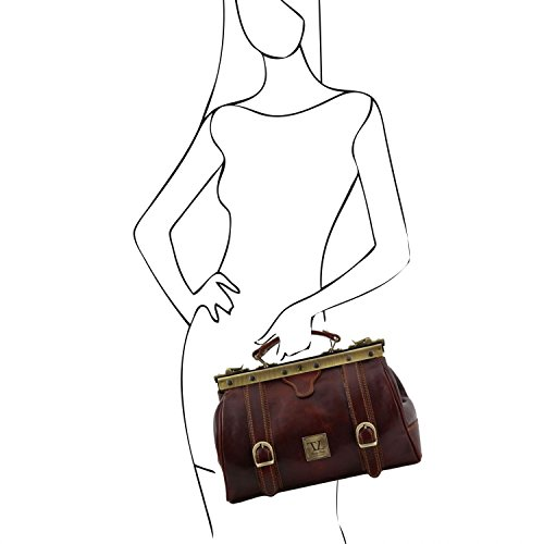 Monalisa Leather Tuscany rétro Mallette cuir Miel Marron 3 en avec TL10034 infirmière boucles UT5xAqw5