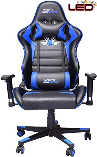Turismo Racing 2020 Series Blue Led Gaming Chair Big And