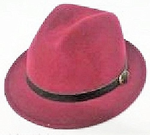 AVON Mark Burgundy Fedora Hat ()