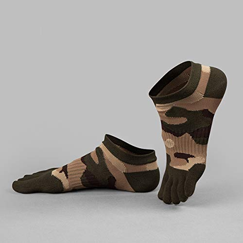 - JUIANG Five Finger Socks Men's Cotton Spring, Summer and Autumn Thin Section Short Tube Camouflage Sports Socks Four Seasons Sweaty Five Toe Socks 5 Pairs