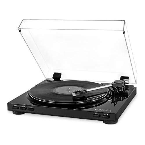 chollos oferta descuentos barato Victrola Pro Tocadiscos Automatico USB Conversiòn de Vinilo a MP3 Negro
