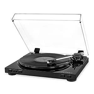 Victrola Pro Tocadiscos Automatico USB Conversiòn de Vinilo a MP3 - Negro