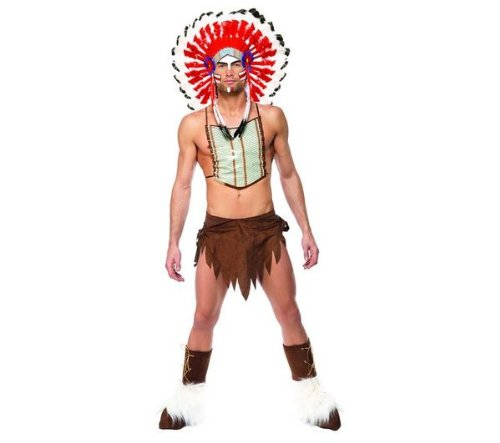Village People Indian 80s YMCA Mens Fancy Dress 1980s Uniform Adult Costume New by Smiffys