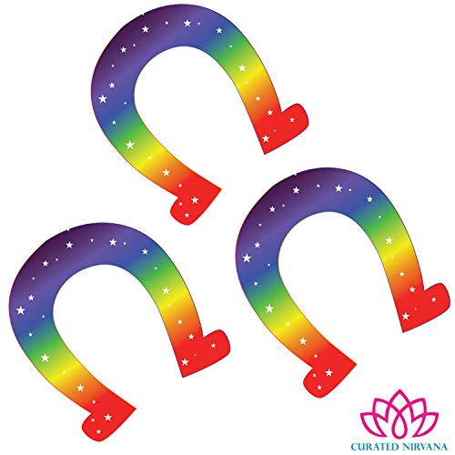 Curated Nirvana Magical Unicorn Hoof Foot Print Wall and Floor Decal Clings | 1 Dozen Pack | 5.5 x 4.75 | Great for Girls Birthday Party Decor and Supplies, Birthday Banner, Favors