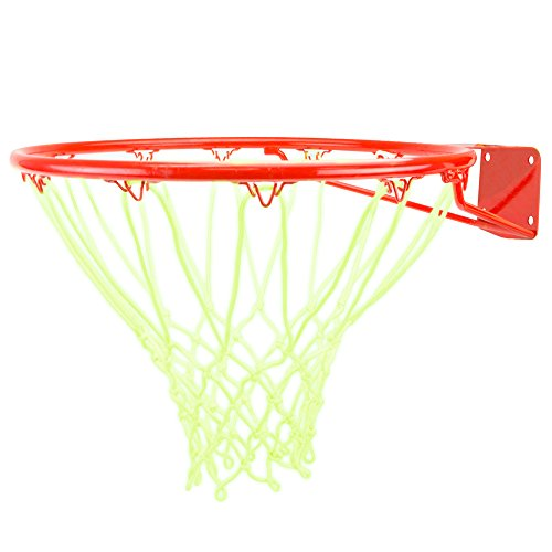 Glow-in-the-Dark White Nylon Basketball Net by Crown Sporting Goods (1-pack)