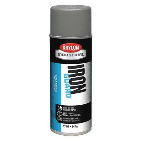 Spray Paint, Satin Gray, 12 oz.