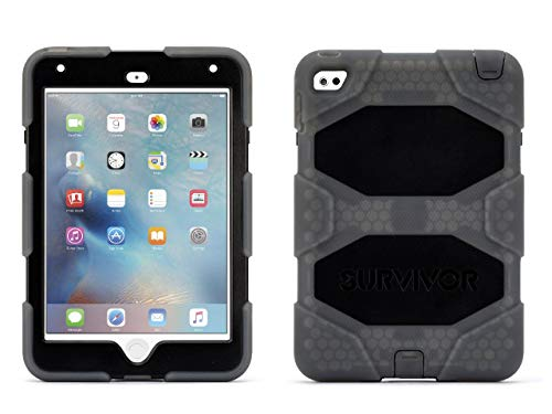 Griffin Rugged Protection Survivor All-Terrain Case for iPad Mini 4 - Smoke/Black