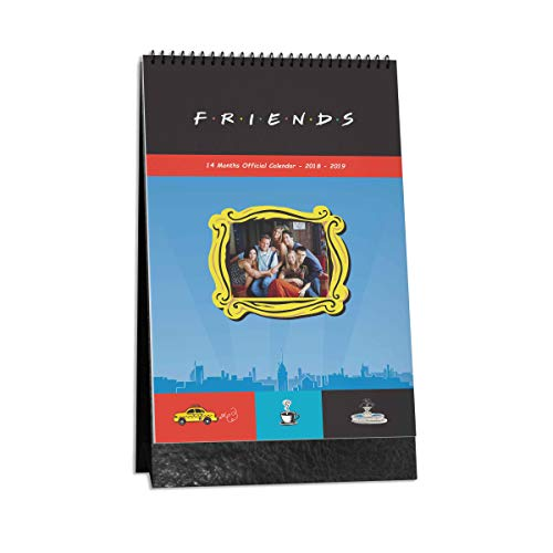 MC SID RAZZ Friends TV Series Table Calendar from NOV 2018 - DEC 2019 | Gift Friends Collectible (14 Months) | Table Top Calendar 2019 | |Gift Set Christmas Officially Licensed by Warner Bros, USA (Calendar Friends)