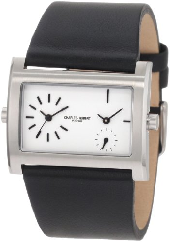 Charles-Hubert, Paris Men's 3592-W Premium Collection Stainless Steel Dual-Time Watch (Premium Collection Hubert Charles)