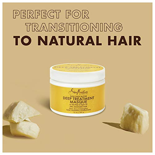Sheamoisture Deep Treatment Masque for Dry, Damaged or Transitioning Hair Raw Shea Butter with Sea Kelp and Argan Oil 12…