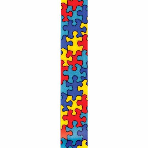 Offray Jigsaw Craft Ribbon, 5/8-Inch x 12-Feet, Blue -