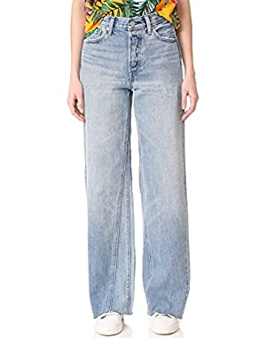 Women's Altered Wide Leg Jeans