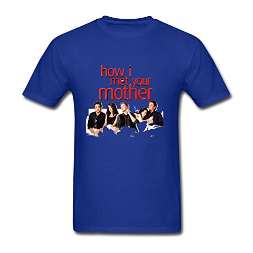YYShirt Men's How I Met Your Mother Short Sleeve T-Shirt Large Royal Blue