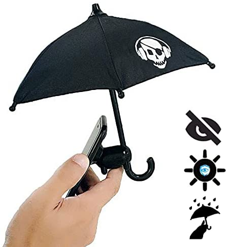 VIVOUNITY Cute Animal Phone Holder – Outdoor Sun Umbrella Silicone Mobile Cell Phone Stands – Creative Desktop Phone Holder, Durable Mobile Phone Suction Cup Holder (Black)