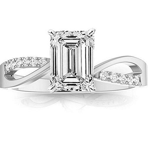 0.75 Ct Emerald Cut Diamond - 2