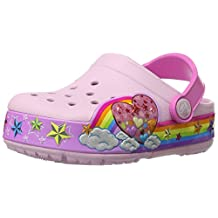 Crocs Kid's Rainbow Heart Lights Clog