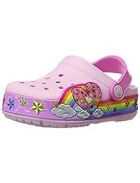 Crocs Kids Rainbow Heart Light Up Clog