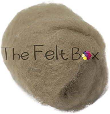Single Shade {Group C} Carded Wool For Felting Craft Wool Needle Felting Wool Aquamarine 83 Wool Batt 100 grams 3.5 Oz
