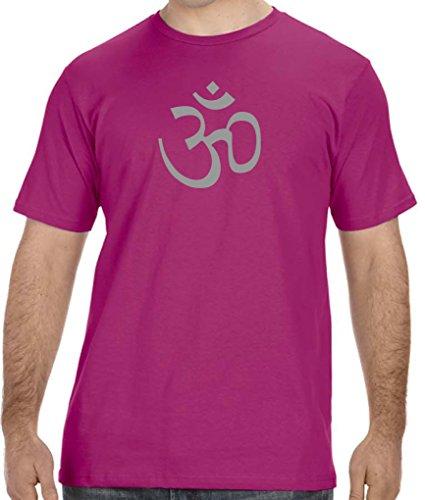 Yoga Clothing For You Mens AUM Organic Tee Shirt, 4XL Raspberry